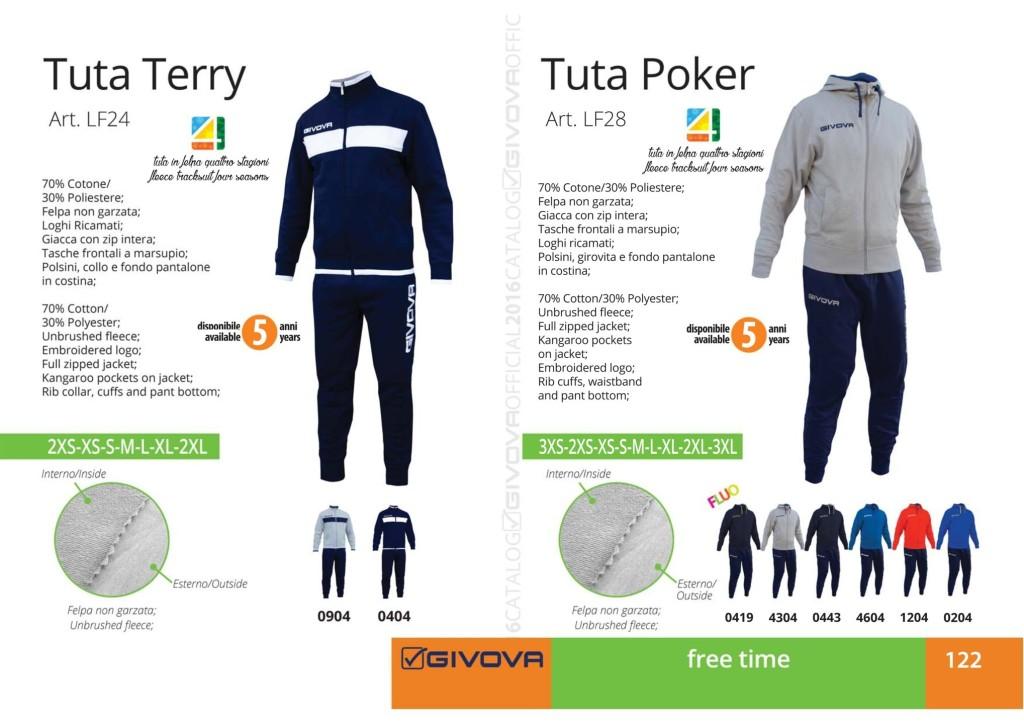 Odzież Givova Relax Tuta Terry i Poker