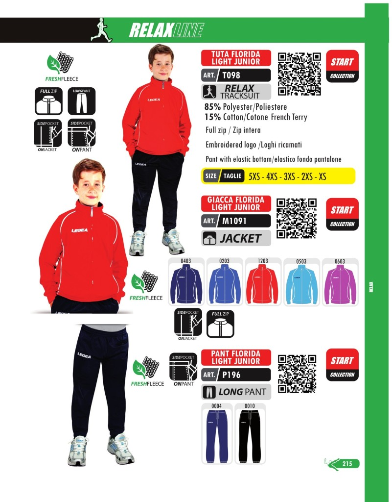Dresy sportowe Legea Tutta, Giacca, Pant Florida Light Junior