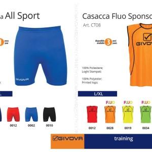 Odzież treningowa Givova Bermuda All Sport i Casacca Fluo Sponsor