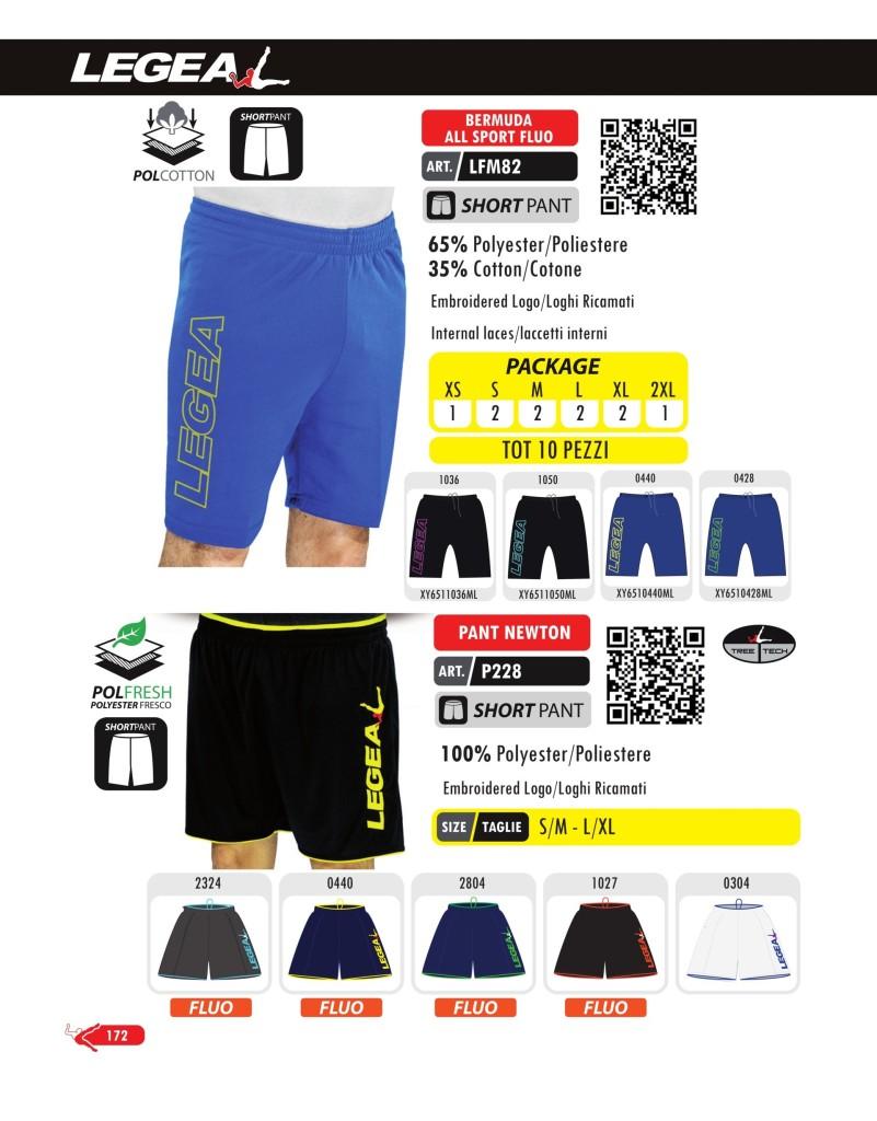 Odzież treningowa Legea Bermuda All Sport Fluo i Pant Newton