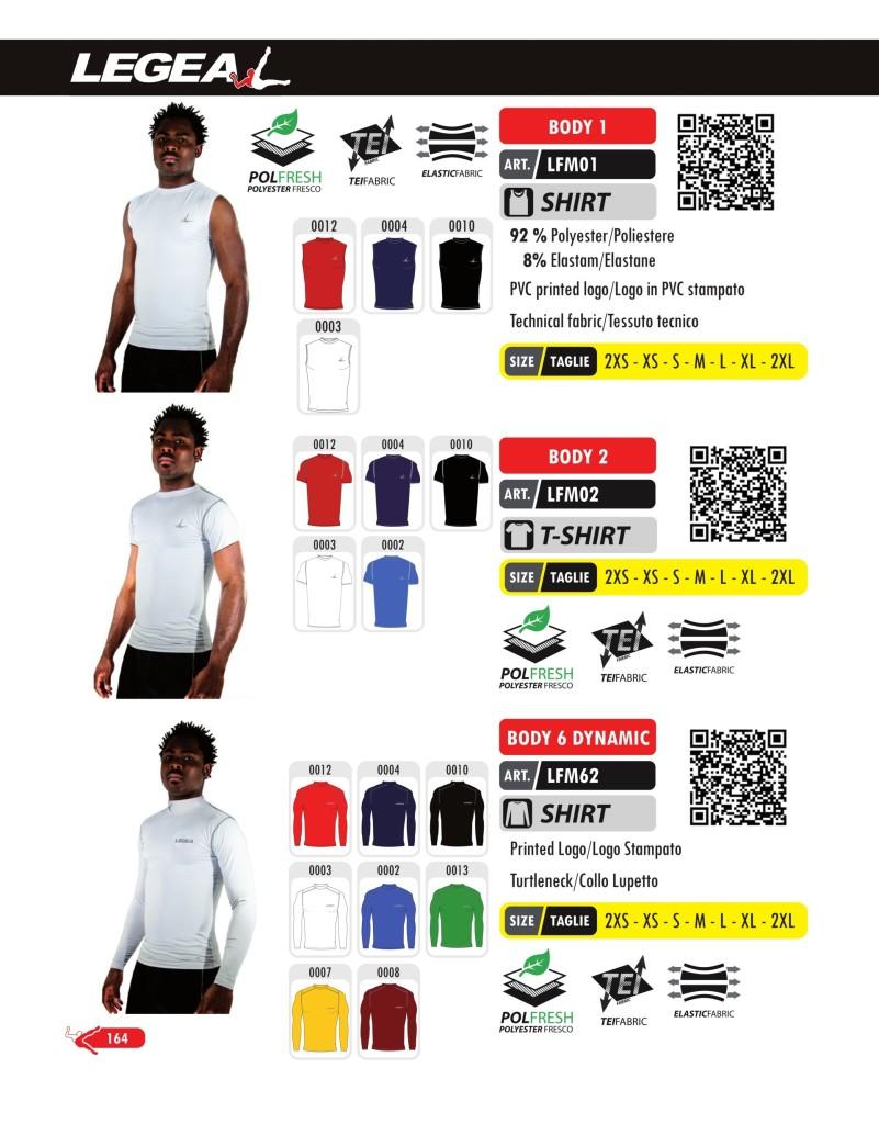 Odzież treningowa Legea Body 1, Body 2, Body 6 Dynamic