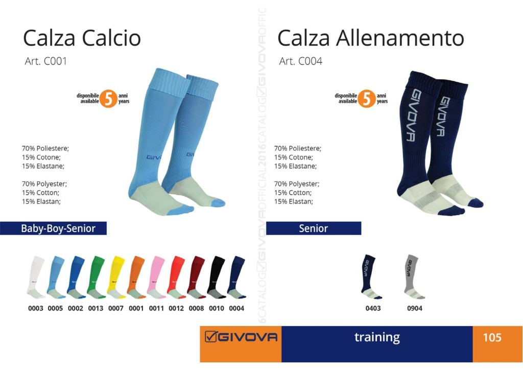 Odzież treningowa Givova Calza Calcio i Allenamento