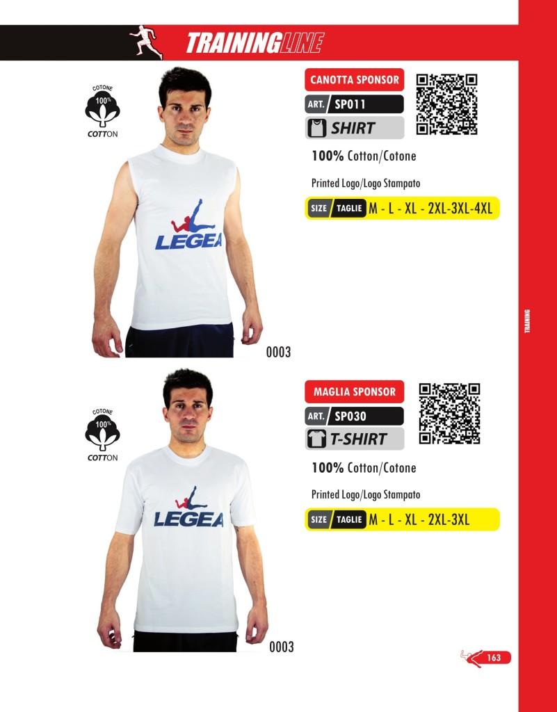 Odzież treningowa Legea Canotta i Maglia Sponsor