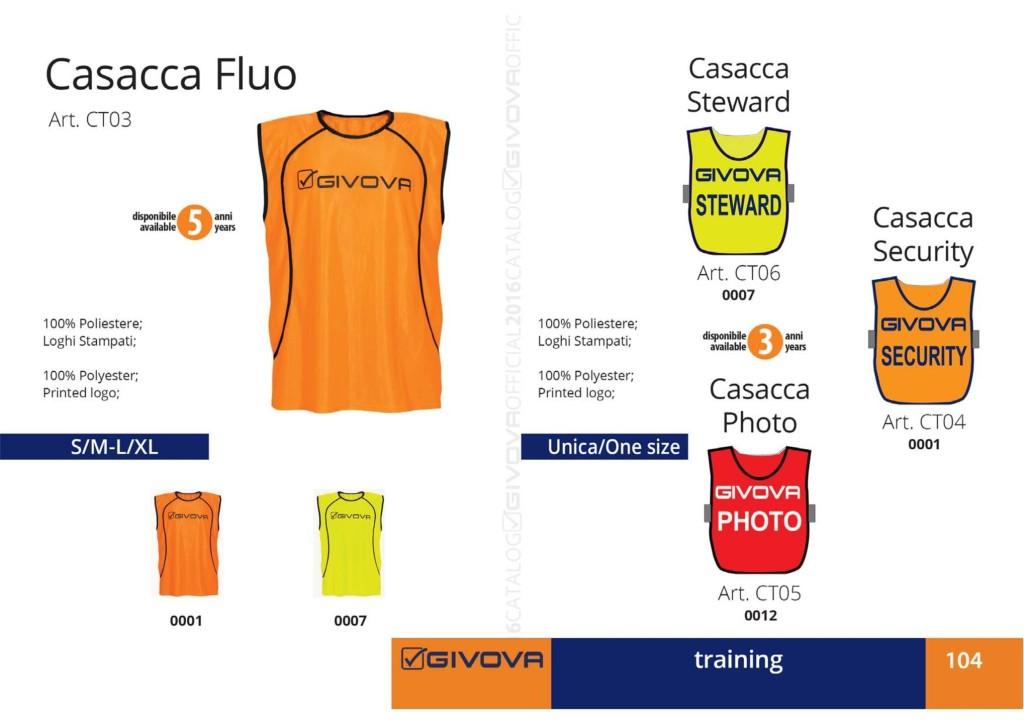 Odzież treningowa Givova Casacca Fluo, Steward, Security, Photo