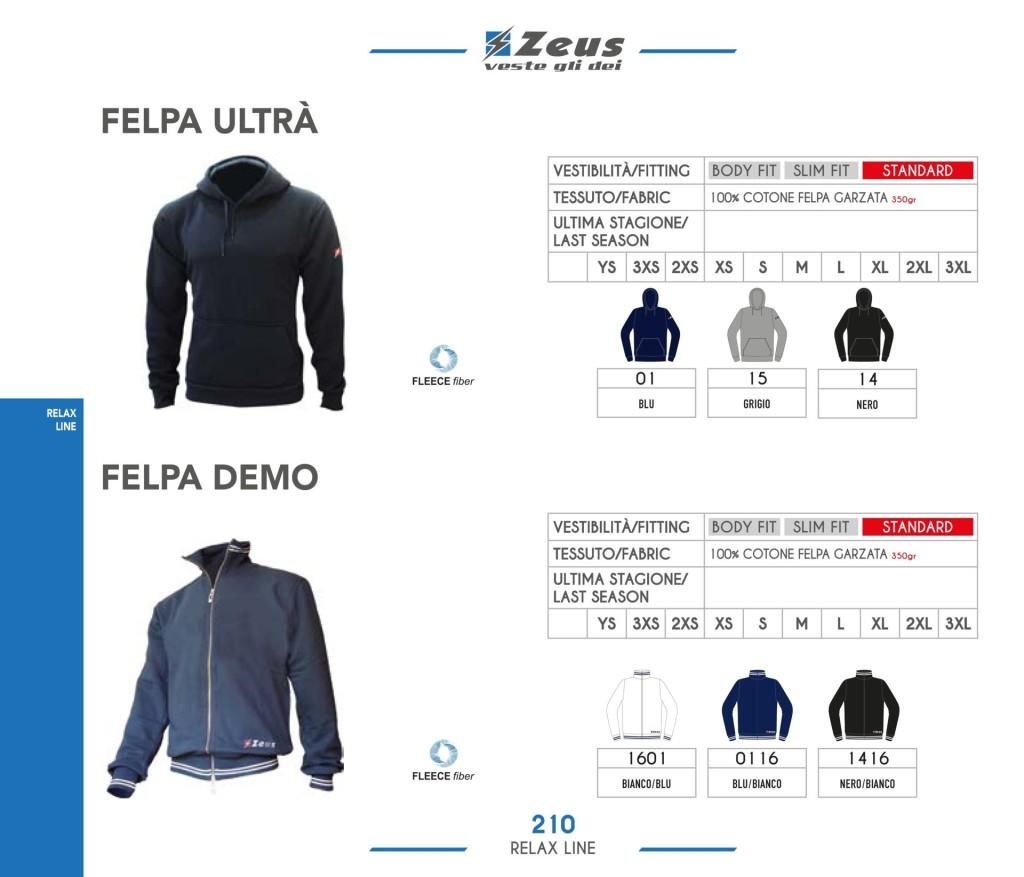 Odzież Zeus Relax Felpa Ultra i Demo