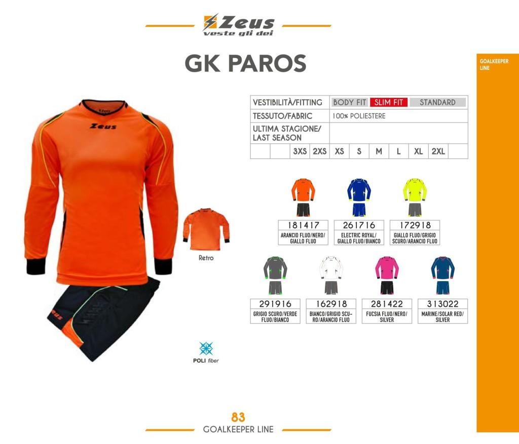 Stroje piłkarskie Zeus Gk Paros