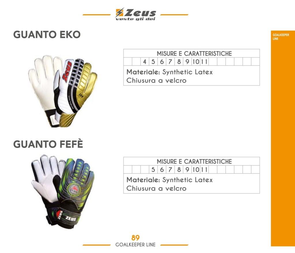 Stroje piłkarskie Zeus GK Guanto Eko i Fefe