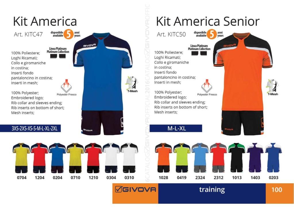 Odzież treningowa Givova Kit America Senior