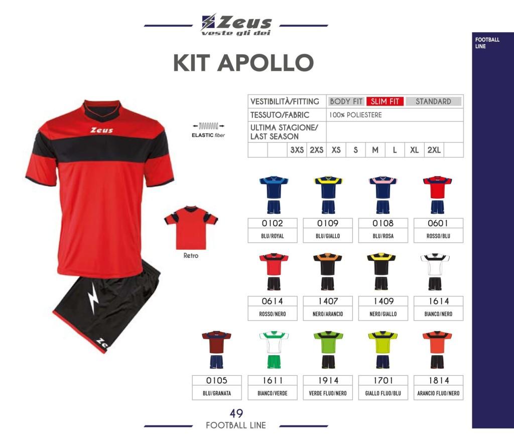 Komplety piłkarskie Zeus Kit Apollo