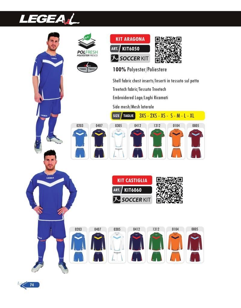 Stroje piłkarskie Legea Kit Aragona