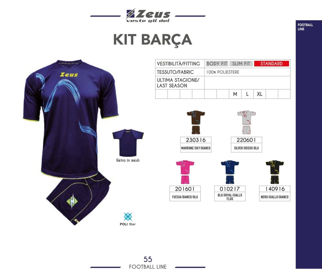 Komplety piłkarskie Zeus Kit Barca