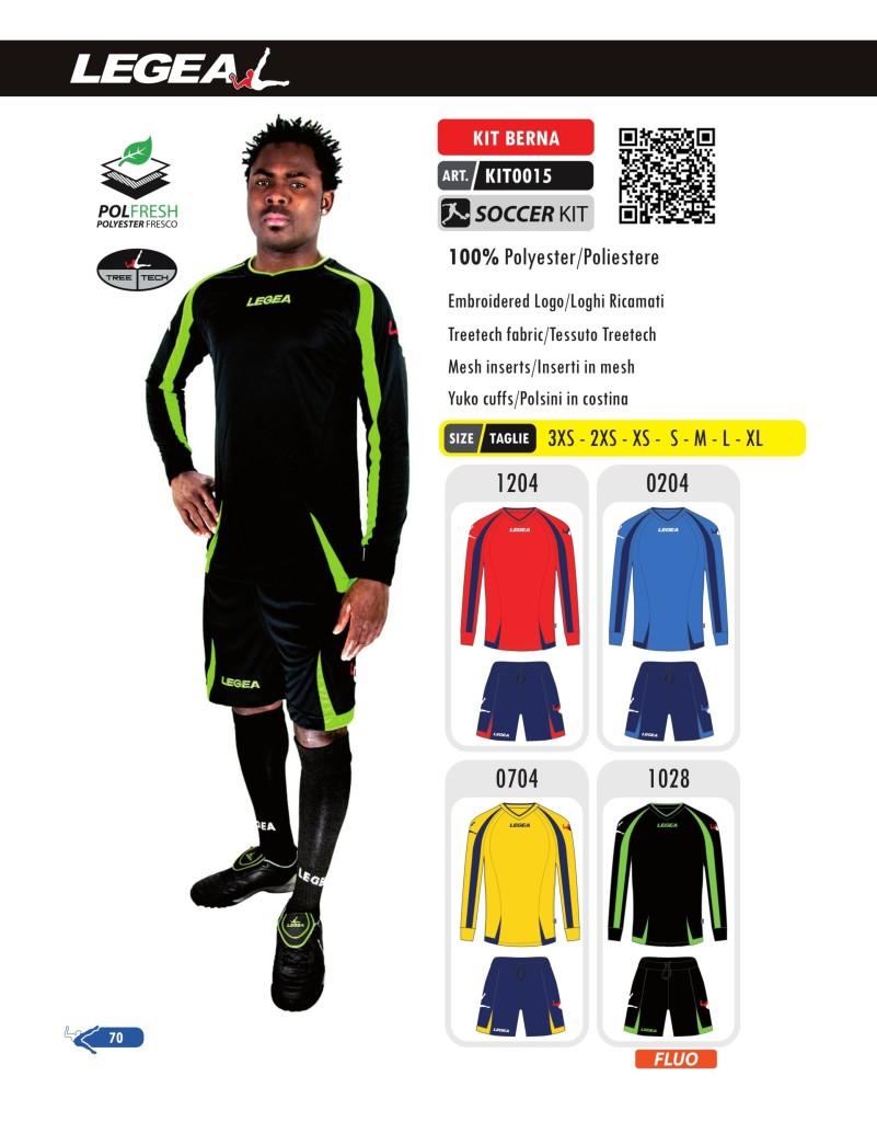 Stroje piłkarskie Legea Kit Berna
