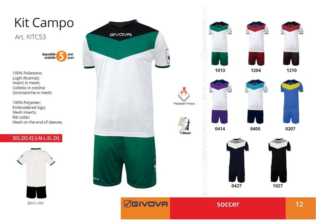 Komplety piłkarskie Givova Kit Campo