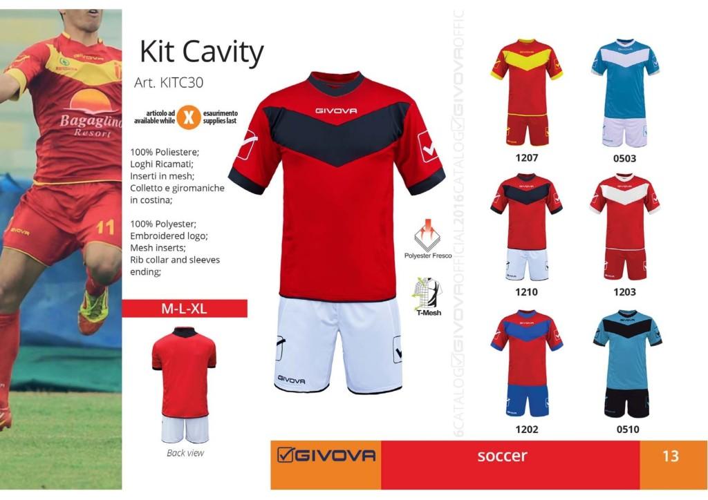 Komplety piłkarskie Givova Kit Cavity