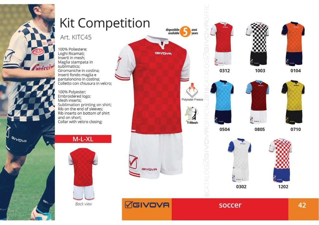 Komplety piłkarskie Givova Kit Competition