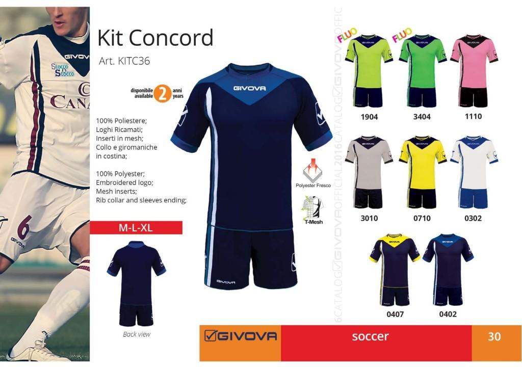 Komplety piłkarskie Givova Kit Concord