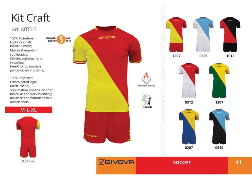 Komplety piłkarskie Givova Kit Craft