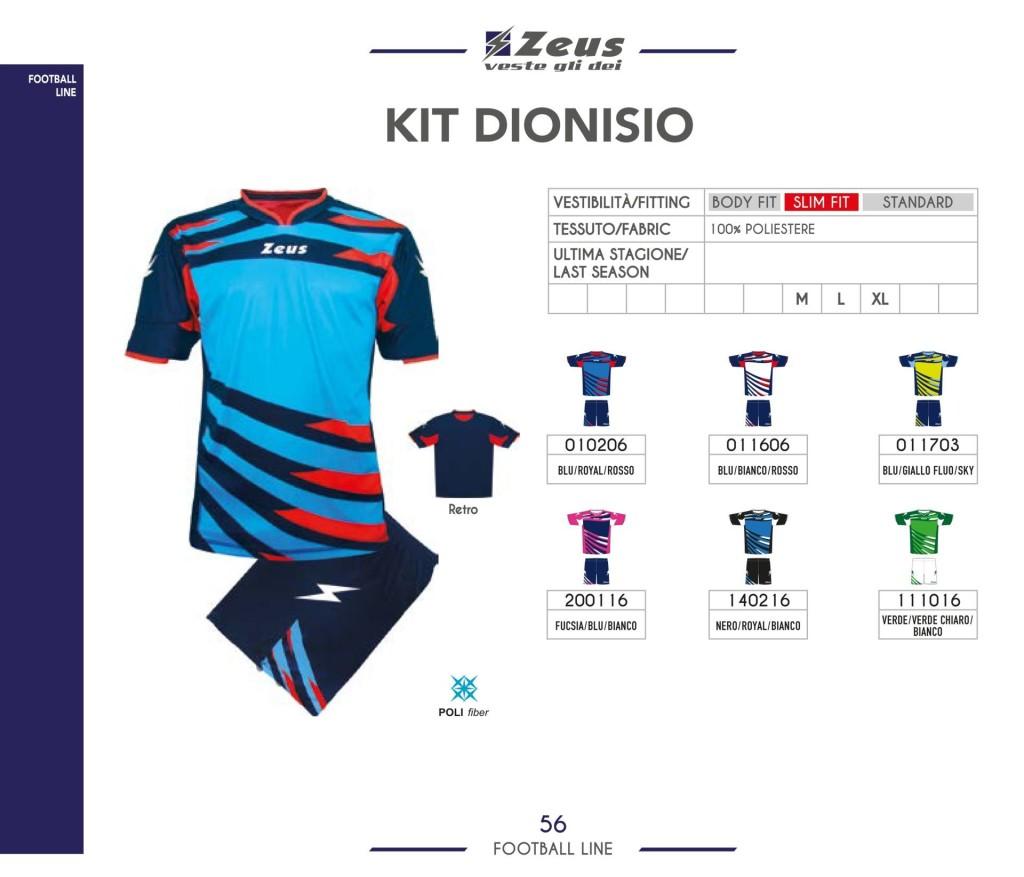 Stroje piłkarskie Zeus Kit Dionisio