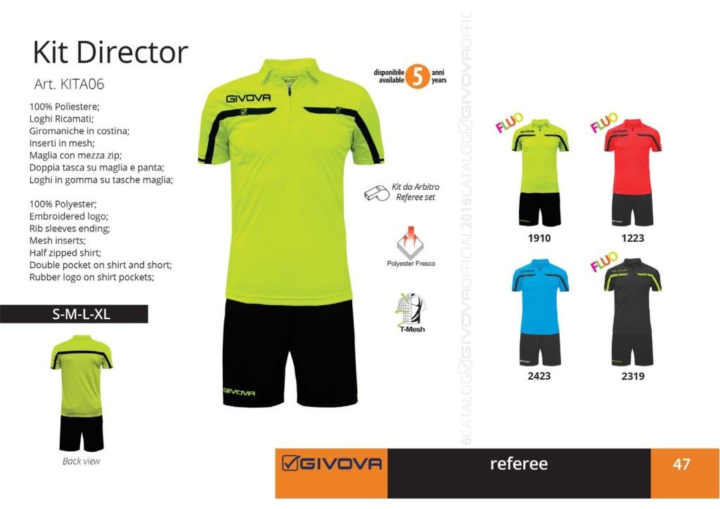 Komplety piłkarskie Givova Kit Director