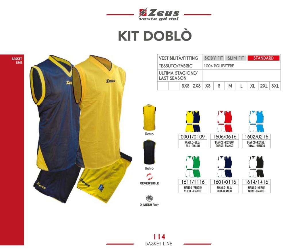 Komplety koszykarskie Zeus Kit Doblo