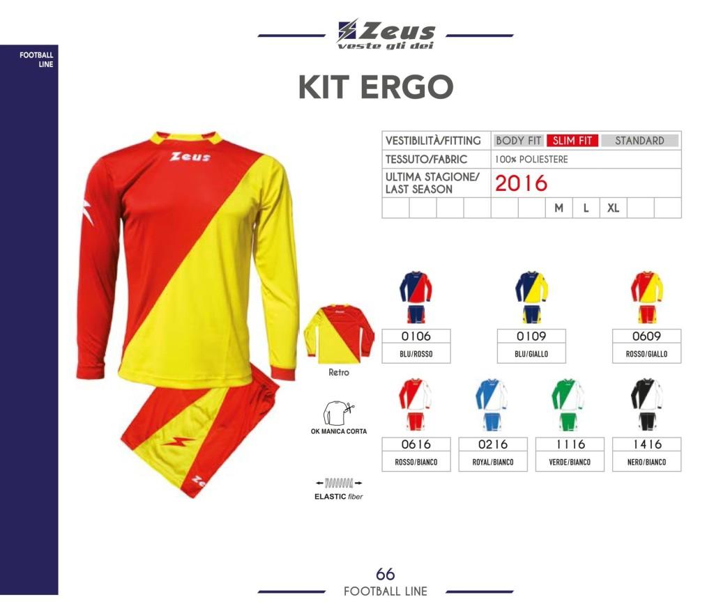 Stroje piłkarskie Zeus Kit Ergo