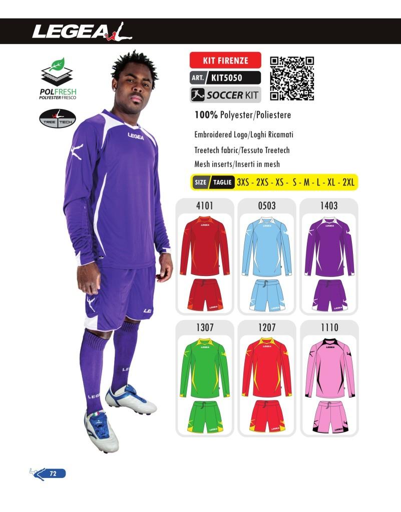 Stroje piłkarskie Legea Kit Firenze