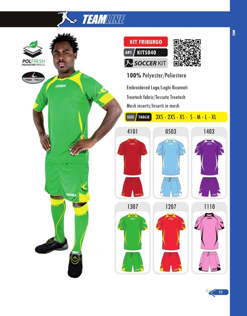 Komplety piłkarskie Legea Kit Friburgo