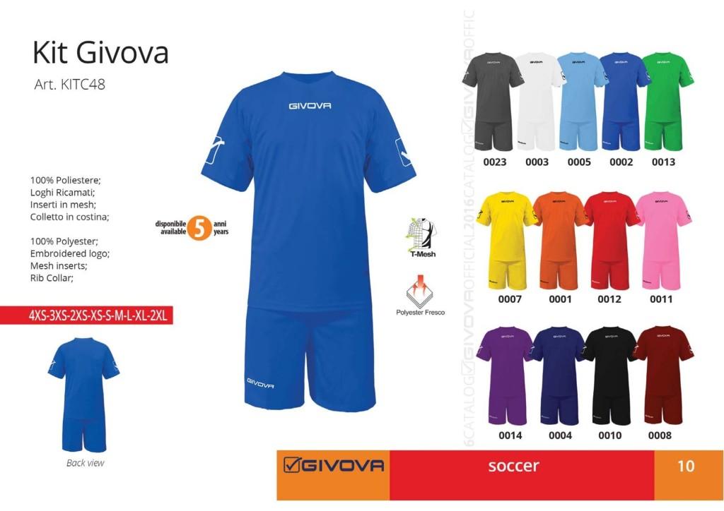 Komplety piłkarskie Kit Givova