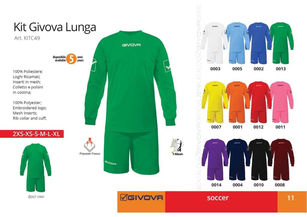 Komplety piłkarskie Kit Givova Lunga