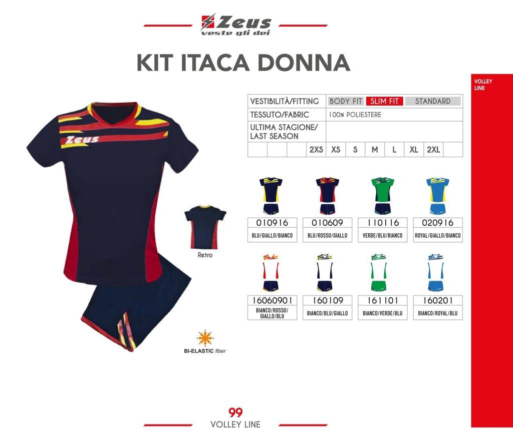 Komplety siatkarskie Zeus Kit Itaca Donna