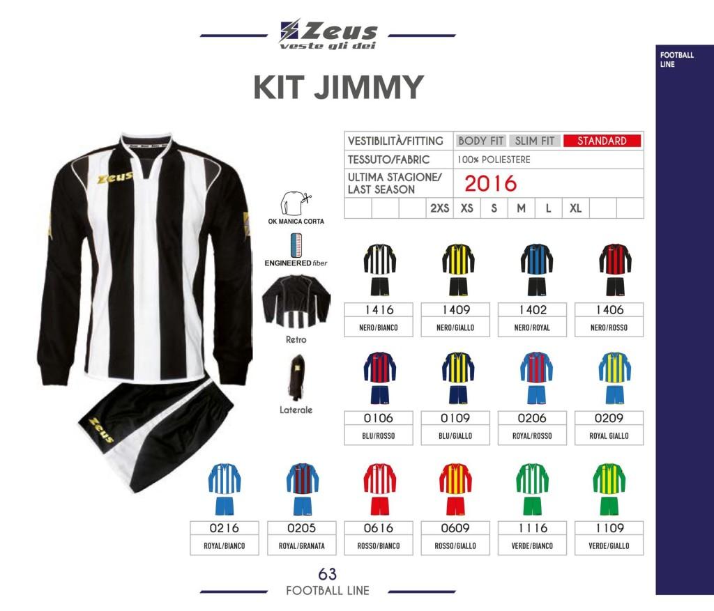 Komplety piłkarskie Zeus Kit Jimmy