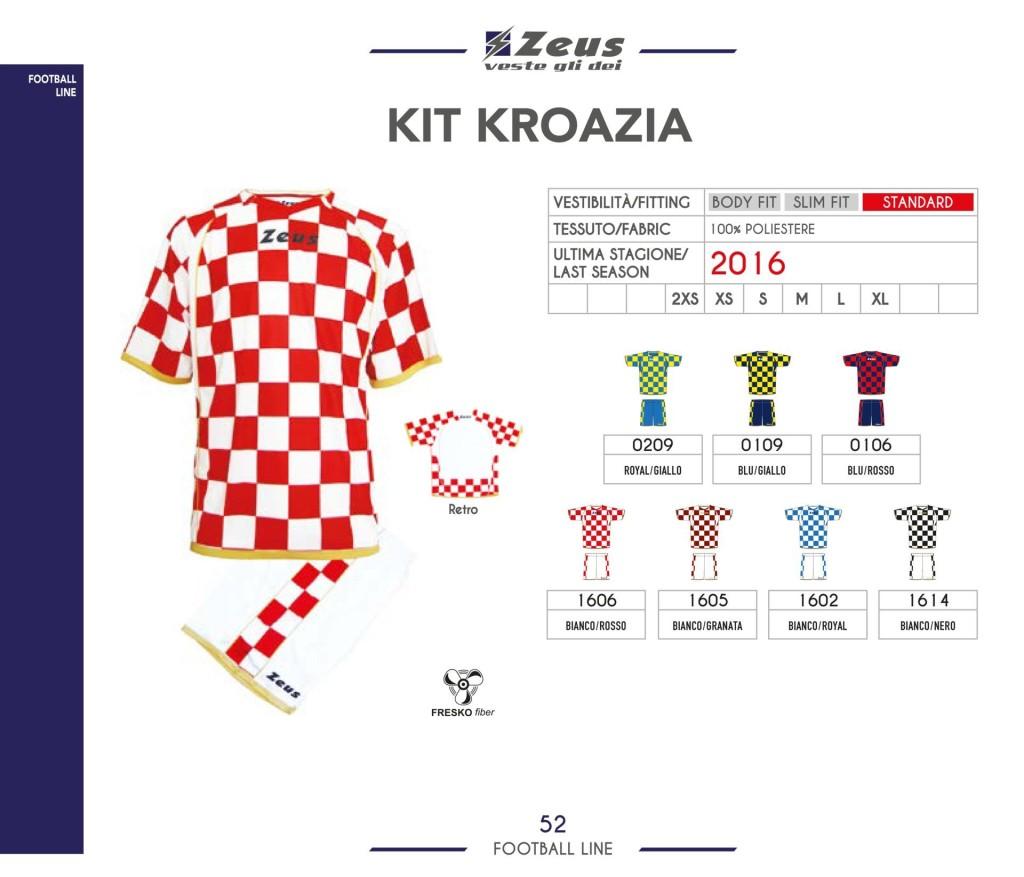 Stroje piłkarskie Zeus Kit Kroazia