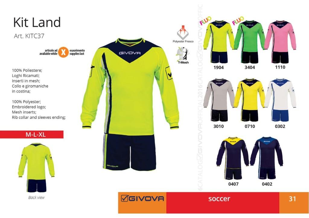 Komplety piłkarskie Givova Kit Land