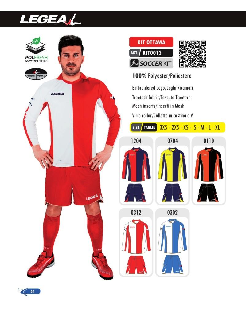 Stroje piłkarskie Legea Kit Ottawa