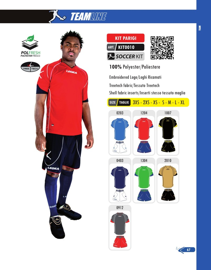 Komplety piłkarskie Legea Kit Parigi