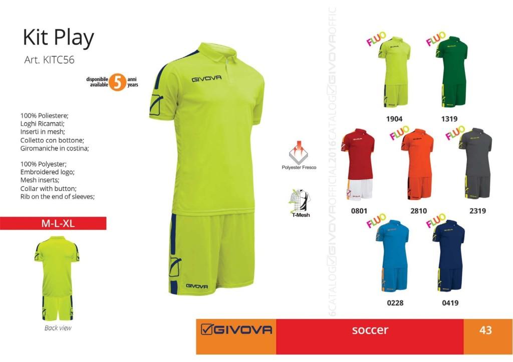 Komplety piłkarskie Givova Kit Play