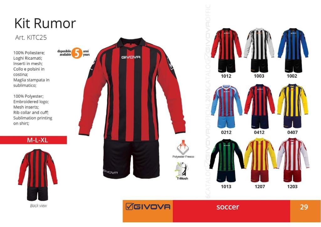 Komplety piłkarskie Givova Kit Rumor