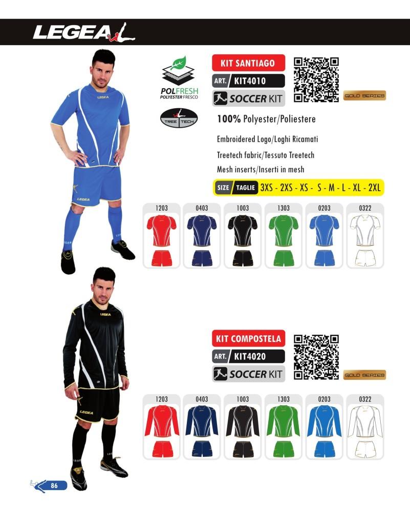 Stroje piłkarskie Legea Kit Santiago i Compostela