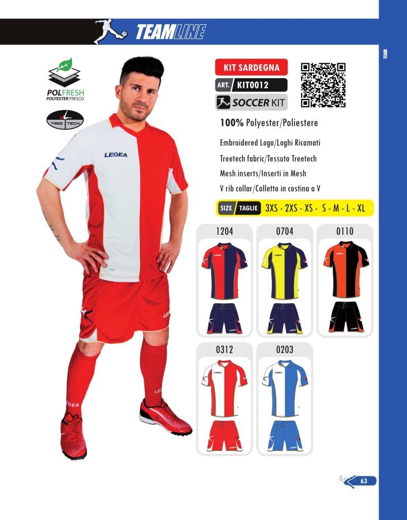 Komplety piłkarskie Legea Kit Sardegna