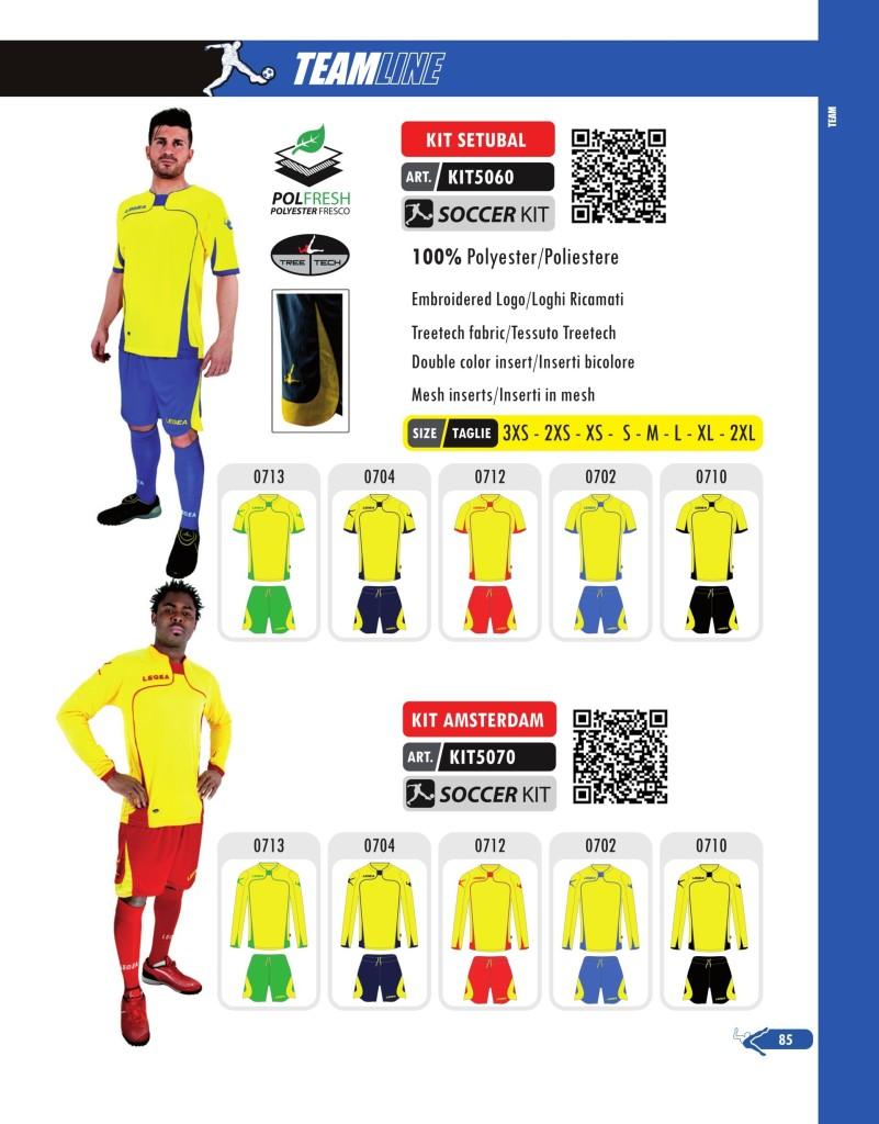 Komplety piłkarskie Legea Kit Setubal i Amsterdam
