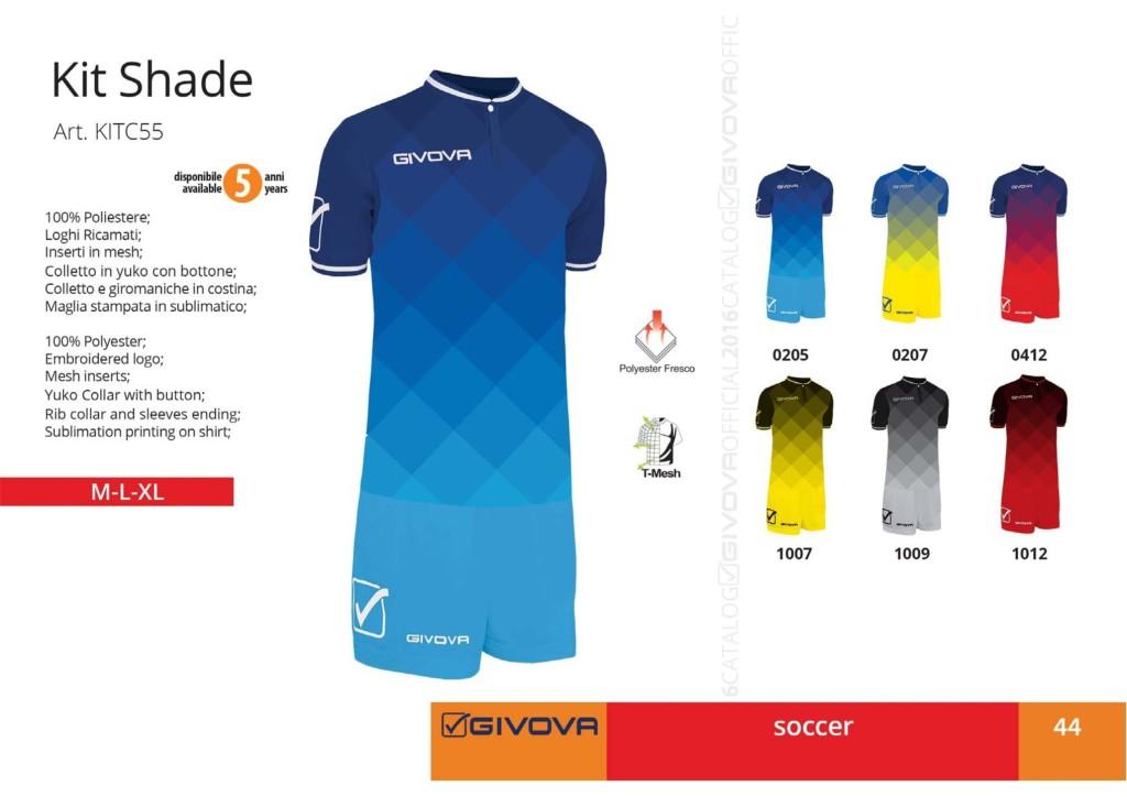 Komplety piłkarskie Givova Kit Shade
