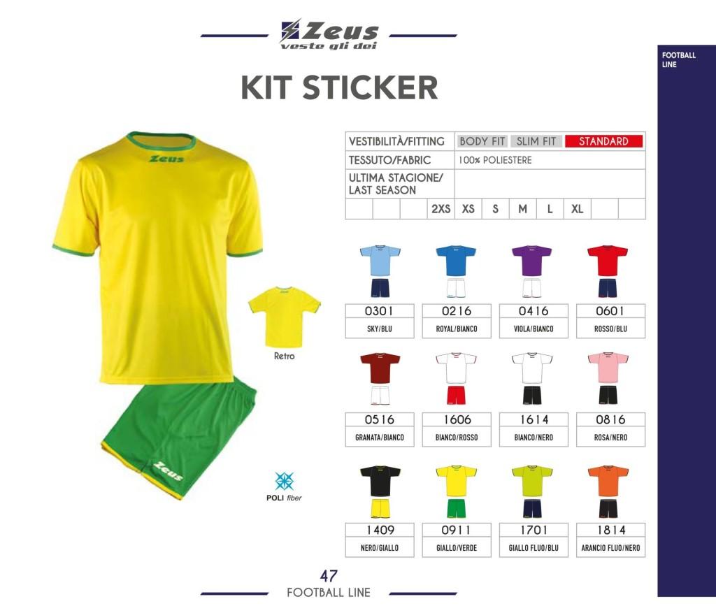 Komplety piłkarskie Zeus Kit Sticker