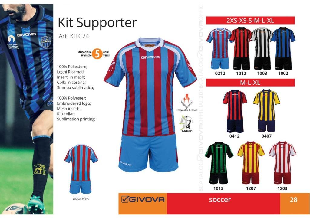 Komplety piłkarskie Givova Kit Supporter