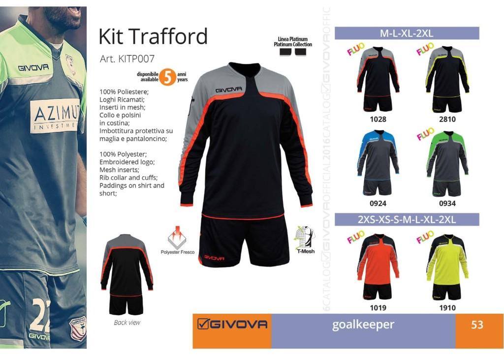 Komplety piłkarskie Givova Kit Trafford
