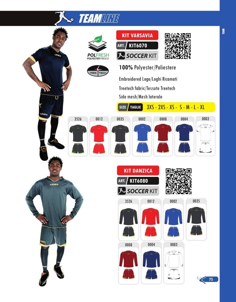 Komplety piłkarskie Legea Kit Varsavia