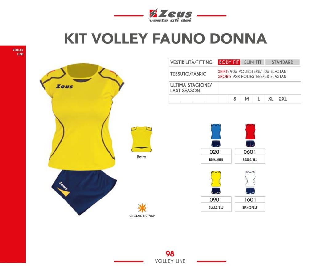 Stroje siatkarskie Zeus Kit Volley Fauno Donna