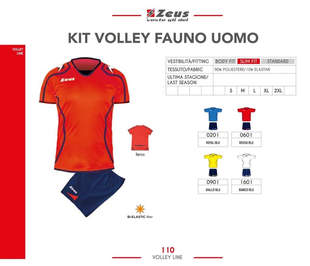 Stroje siatkarskie Zeus Kit Volley Fauno Uomo