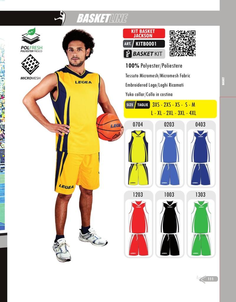 Stroje koszykarskie Legea Kit Basket Jackson