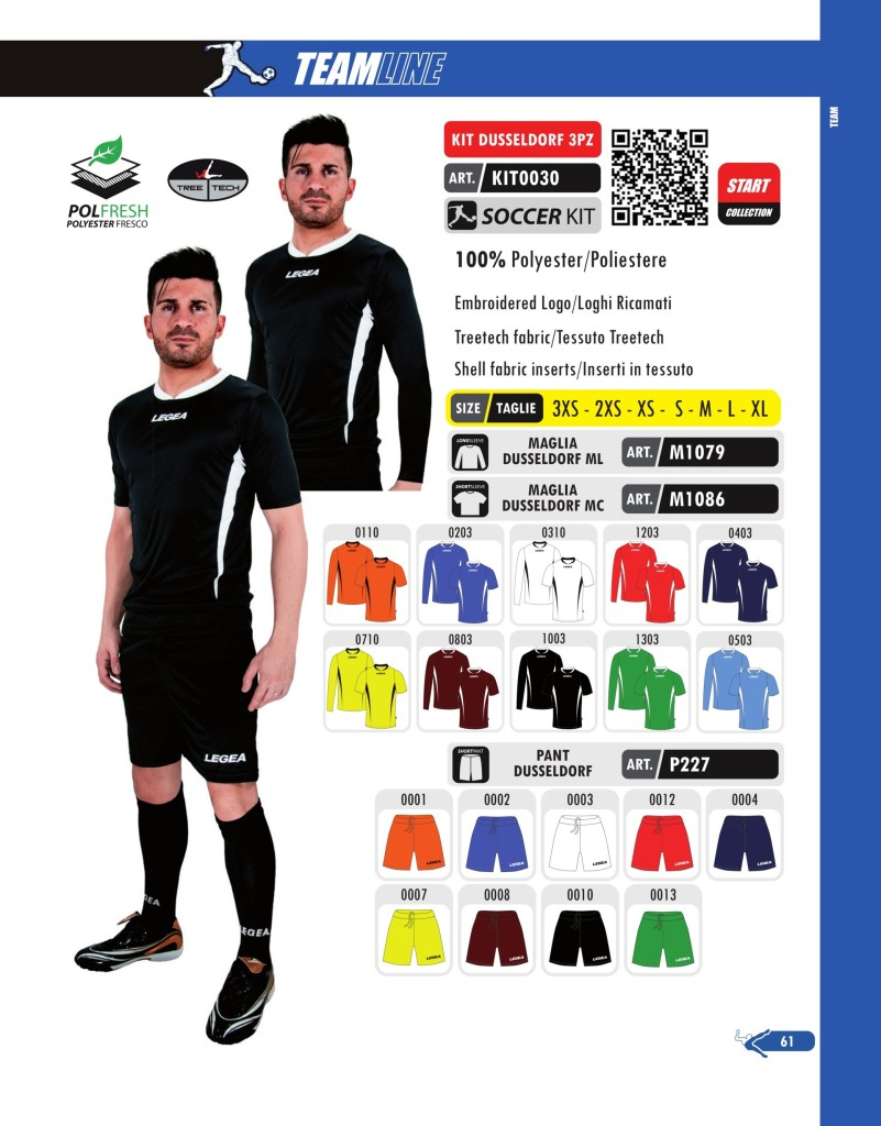 Komplety piłkarskie Legea Kit Dusseldorf 3pz