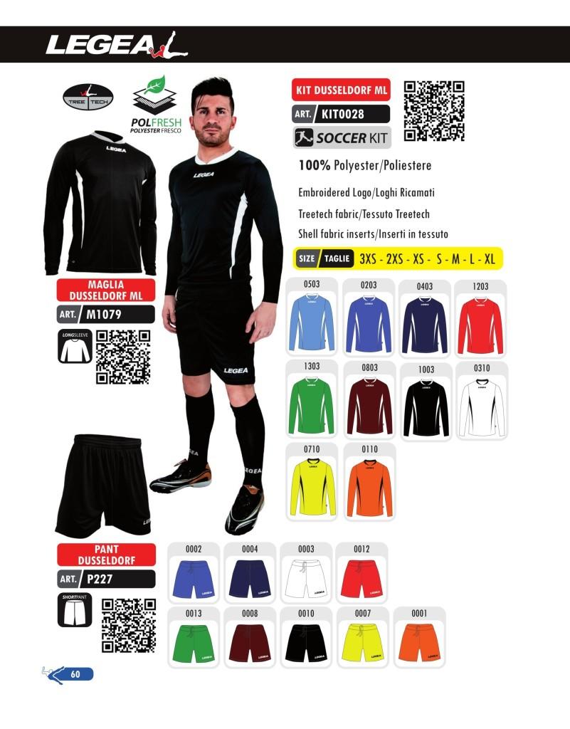 Stroje piłkarskie Legea Kit Dusseldorf Mc